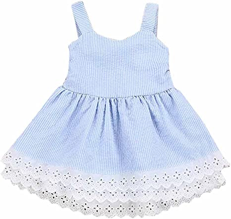 Toddler Kids Baby Girls Summer Off Shoulder Lace Party Pageant Dress Sundress