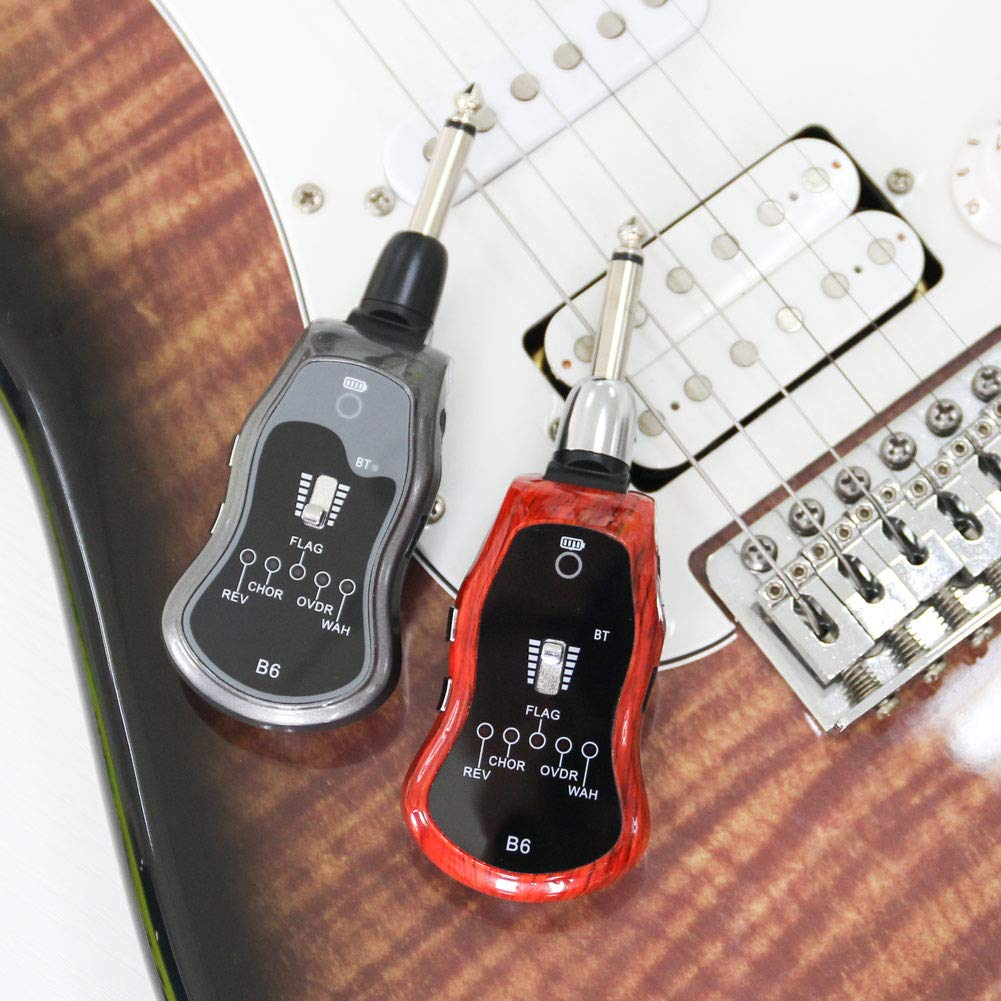 Alexsix Guitar System Rechargeable with Multifunction 5 Modulation Effects Digital Guitar Transmitter Receiver