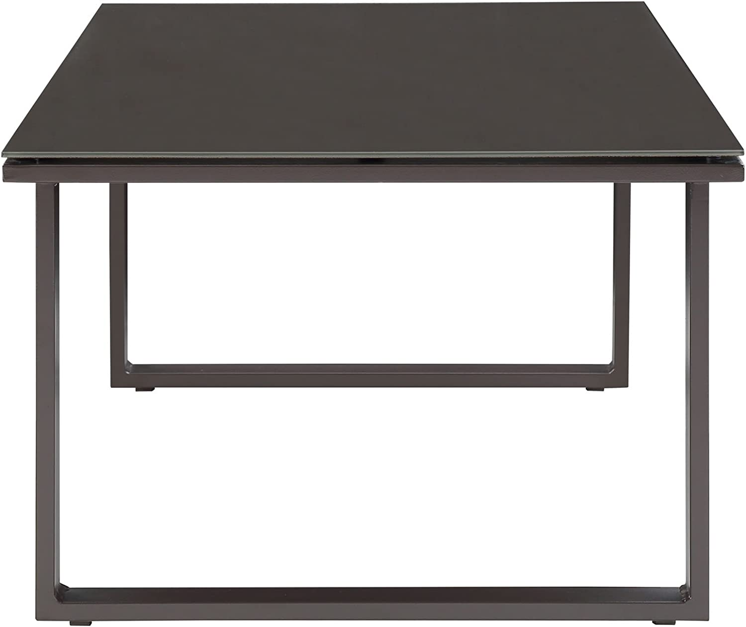 Modway EEI-1516-BRN-SET Fortuna Outdoor Patio Coffee Table in Brown