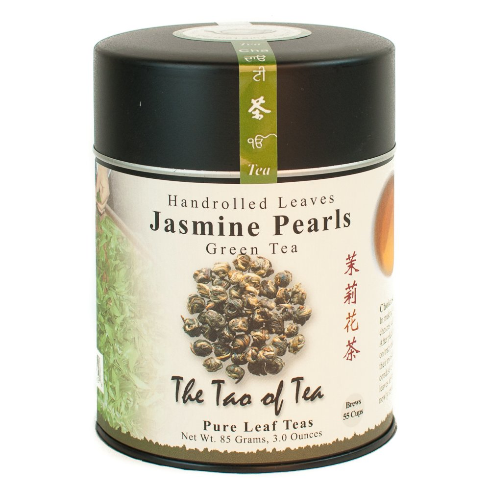 The Tao of Tea, Handrolled Jasmine Pearls Green Tea, Loose Leaf, 3 Ounce