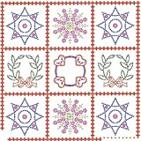 Jack Dempsey Needle Art 7394 Sampler Wall Quilt, 36-Inch by 36-Inch, White