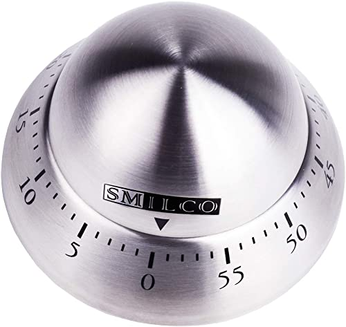 Kitchen Timer, Stainless Steel Mechanical Cooking Timer Manual Countdown Timer 60 Minutes