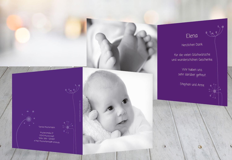 Kartenparadies Danksagung für Geburt Baby Dankeskarte abstrakte Blaumen, hochwertige Danksagungskarte Baby inklusive Umschläge   100 Karten - (Format  145x145 mm) Farbe  Orange B01N4TYB50 | Neuheit  | Große Klassifizierung  | Gute Qualität