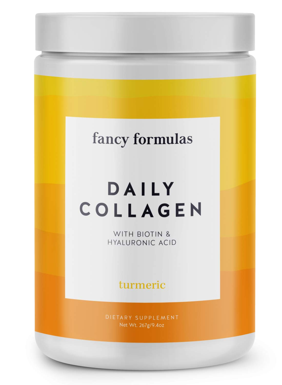 Fancy Formulas Daily Collagen Protein Powder: Grass-fed Collagen Peptides with Biotin, Hyaluronic...