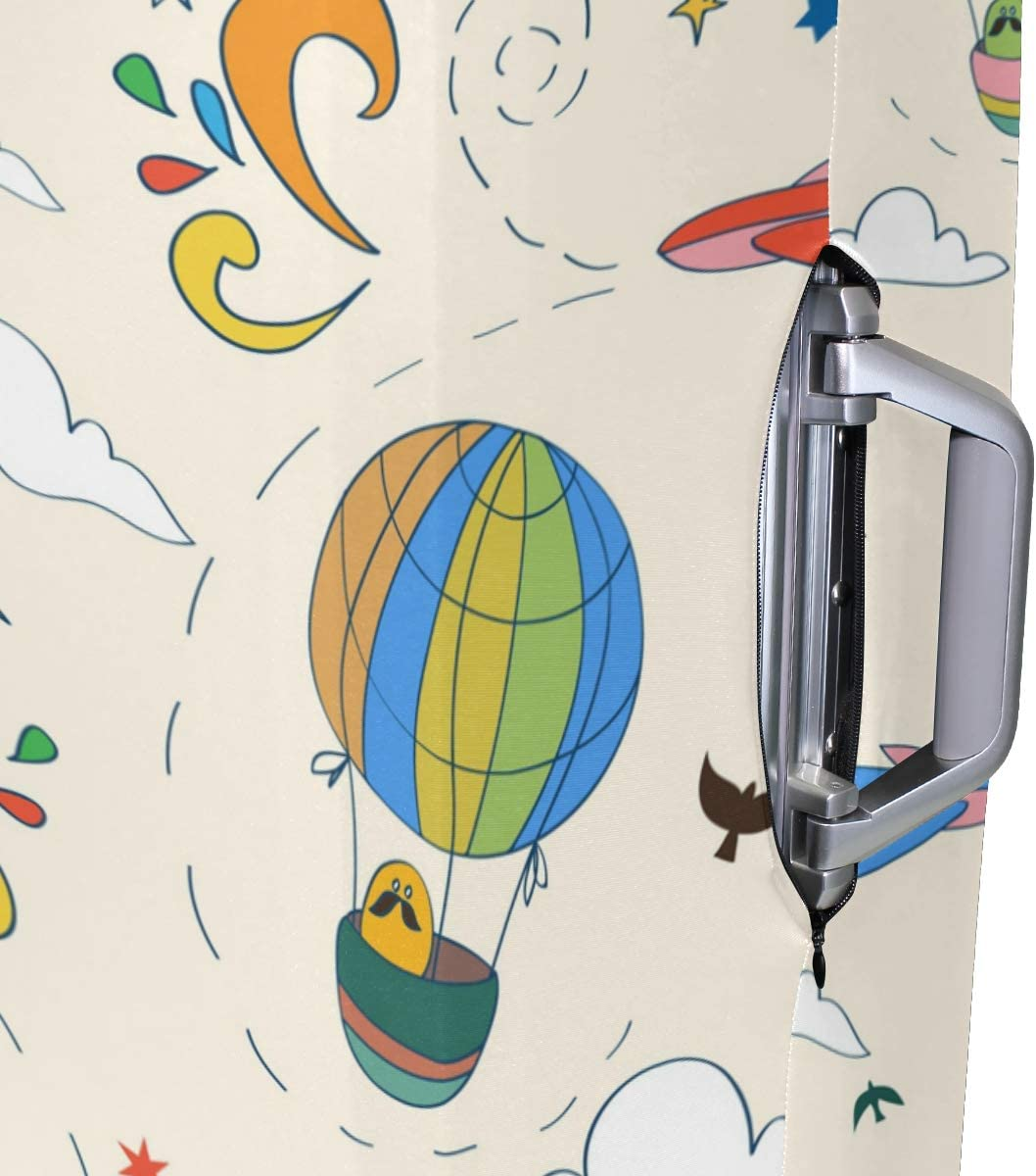 Funny Hot Air Balloon Pattern Fashion Creative Design Anti-Scratch Stretchy Travel Suitcase Protector Baggage Covers 18//20//24//28//32 Inch Spandex Travel Luggage Cover