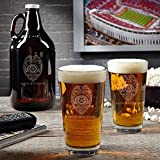 Police Badge Personalized Growler and Pint Glass Set (Customizable Product)