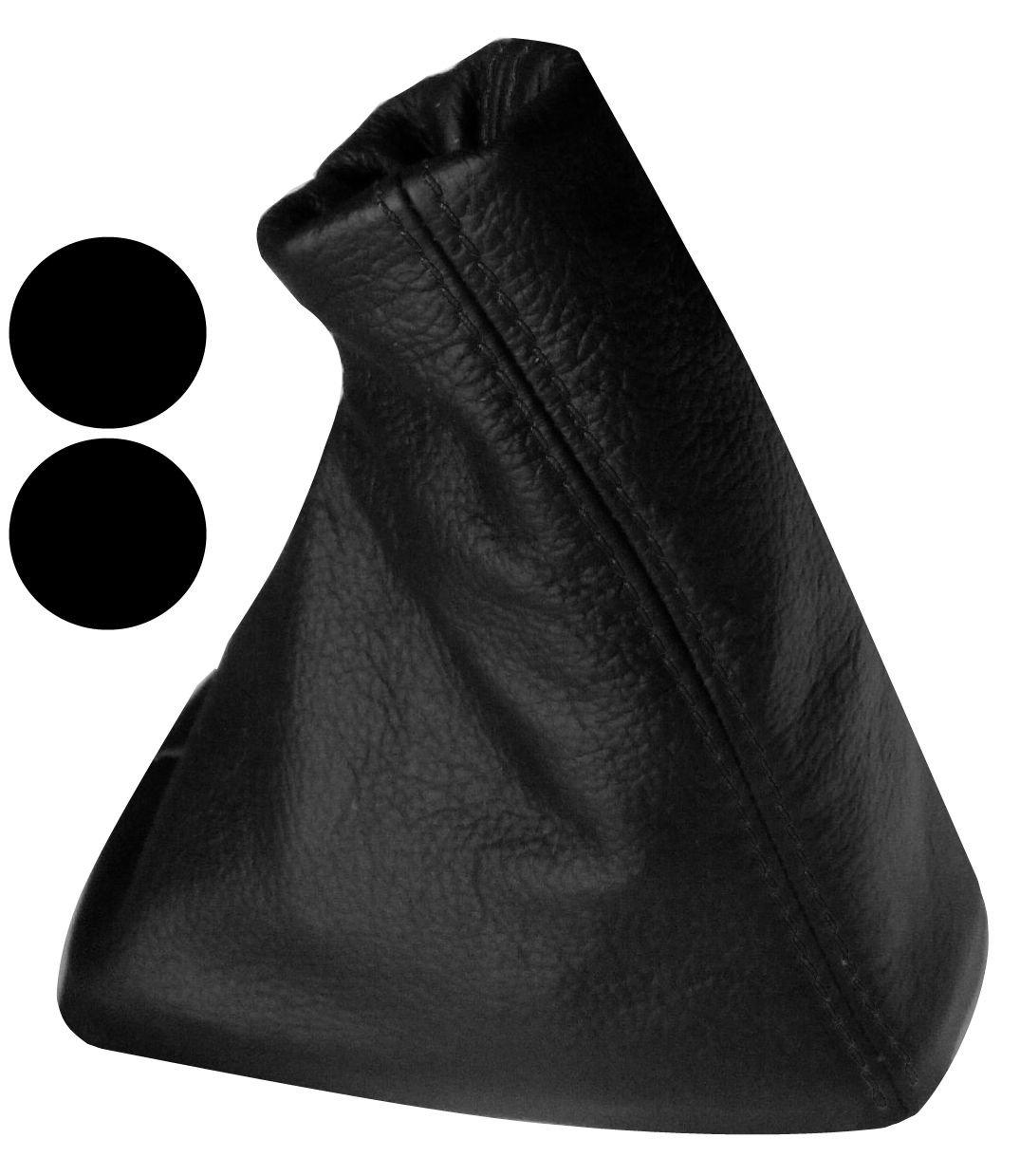 Aerzetix Schaltsack Schalthebelmanschetten Schalthebelmanschette Schaltbet/ätigungs Schwarze Farbe 100/% schwarz N/ähten
