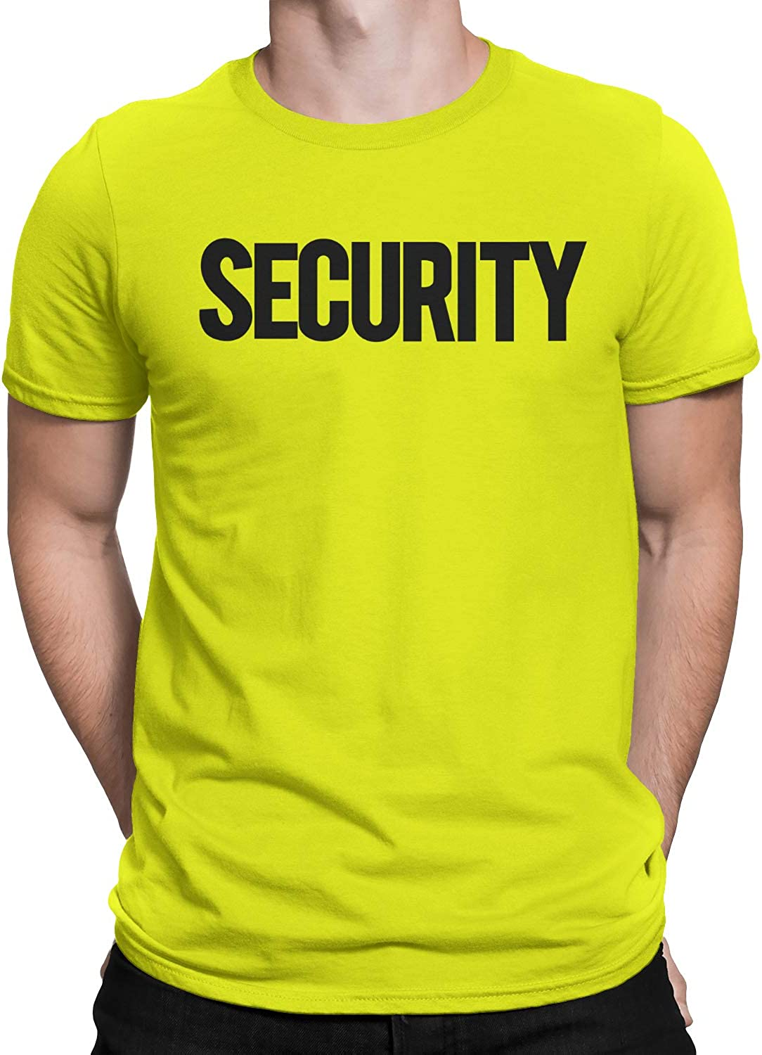 NYC FACTORY Security T-Shirt Front Back Print Mens Tee Staff Event Uniform Bouncer Screen Printed