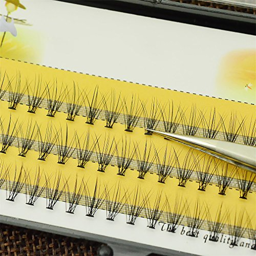 1Box Big Capacity 60 Bundles 6D 10D Eyelash Extensions 0.1Mm Thickness True Mink Strip Eyelashes Individual Lashes C 13mm