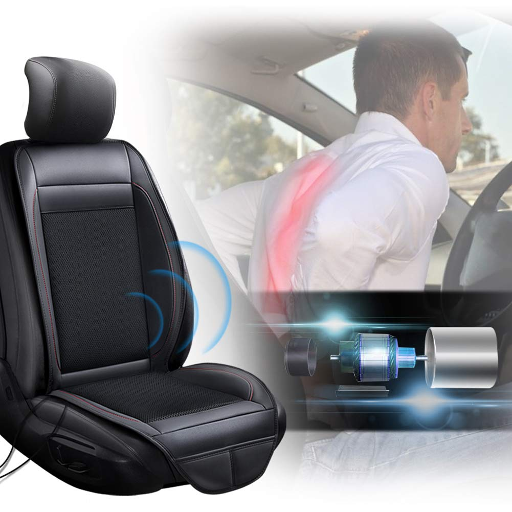 Vibrating Massage for Driving SEG Direct 3-in-1 Car Smart Seat Cushion Heating for Winter Cooling for Summer Universal 12V Output Voltage Adapter with 5 Adjustable Levels of Cooling and Heating