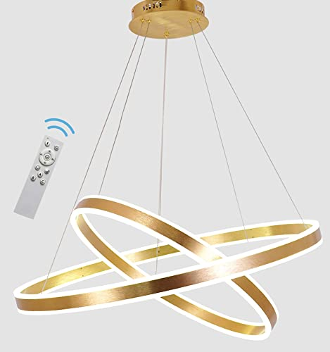 AKEELIGHTING Contemporary Chandeliers Led Pendant Lighting Modern Dimmable Led Light Fixture 2 Ring