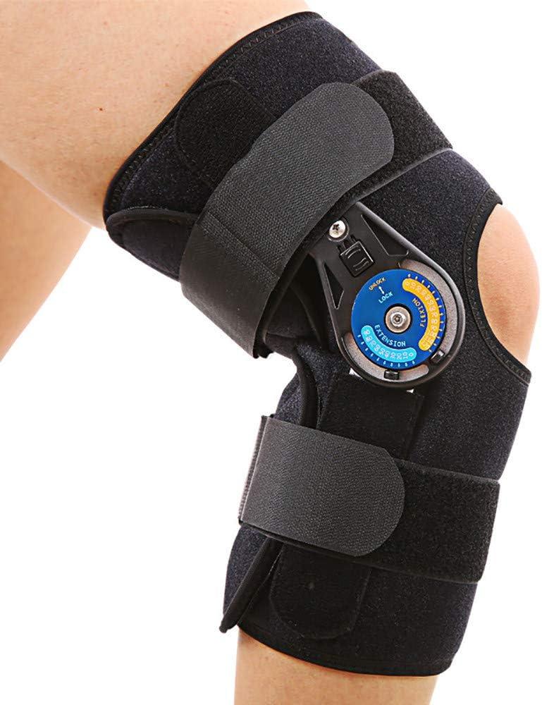 Rodillera Rotuliana Hombre, Ortesis De Rodilla Regulable, para ACL/PCL/menisco/ligamentos, ortesis ortopédica de Rodilla con articulaciones Ajustables para Hombres y Mujeres,S