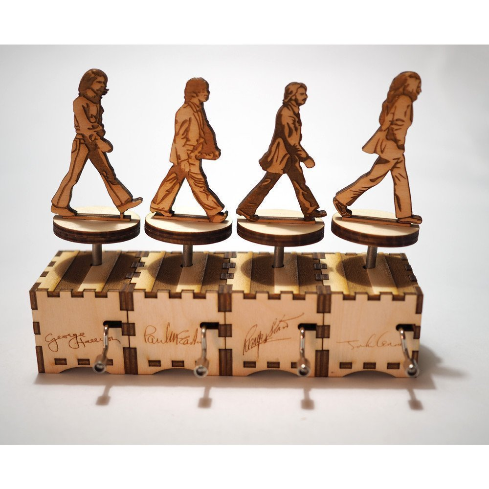 The Beatles Music Box - Abbey Road Set / Laser cut and laser engraved wood music box. Perfect gift, memorabilia or collectible for rockers