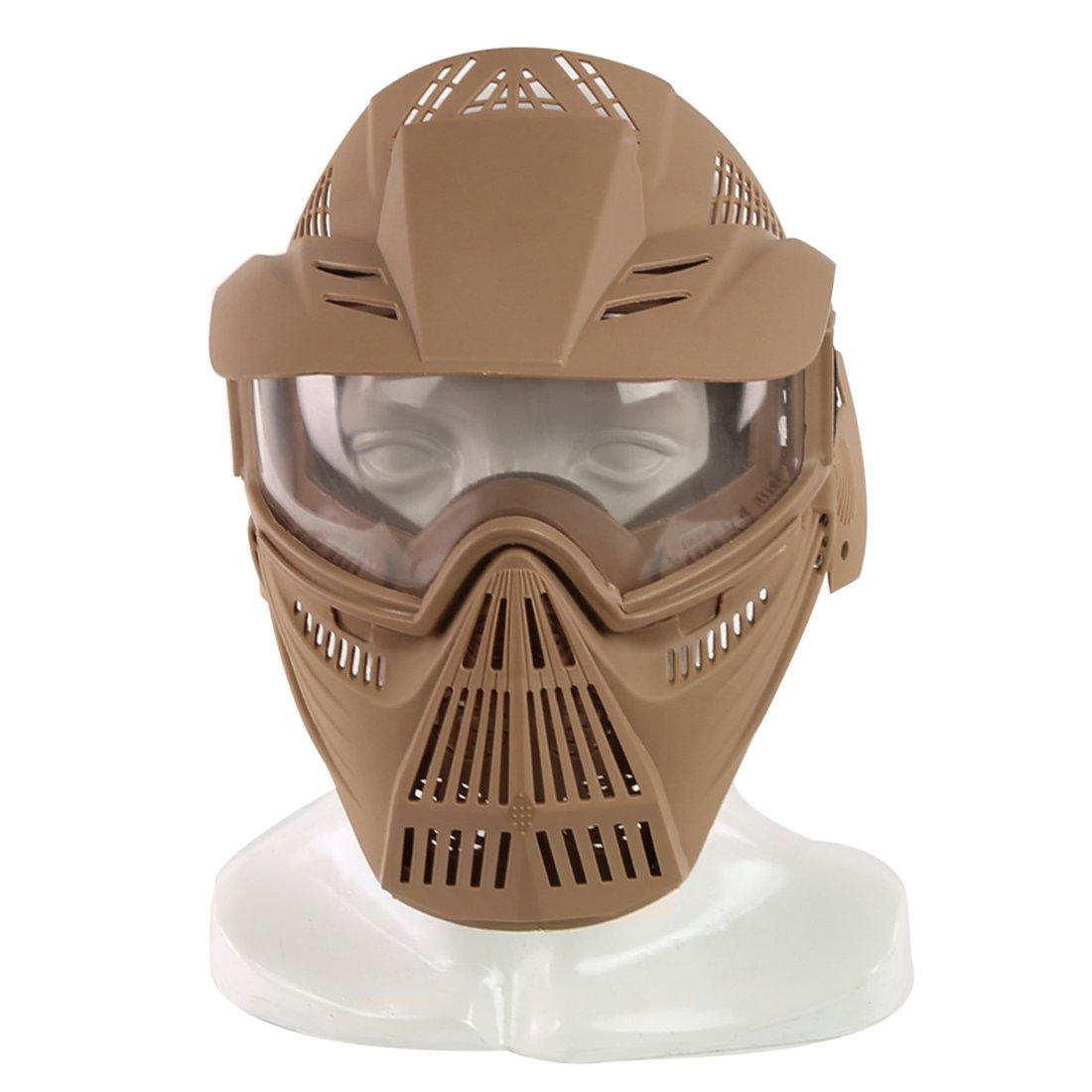 15000P Taktische Maske Vollgesichtsmaske Abdeckung mit Brille Schutzmaske für Nerf Rival
