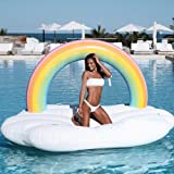 techcity Giant Inflatable Unicorn Pool Float Floatie Ride On Summer Beach Swimming Pool Raft Lounge, Swim Party Toys…