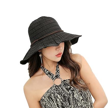 4fd45adaa17 Amazon.com  ITODA Summer Sun Hat UPF 50+ Foldable Bucket Wide Brim ...