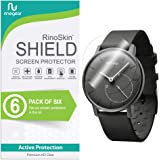 RinoGear withings Activite Pop Screen Protector [6-Pack] Case Friendly Screen Protector for withings Activite Pop Accessory Full Coverage Clear Film