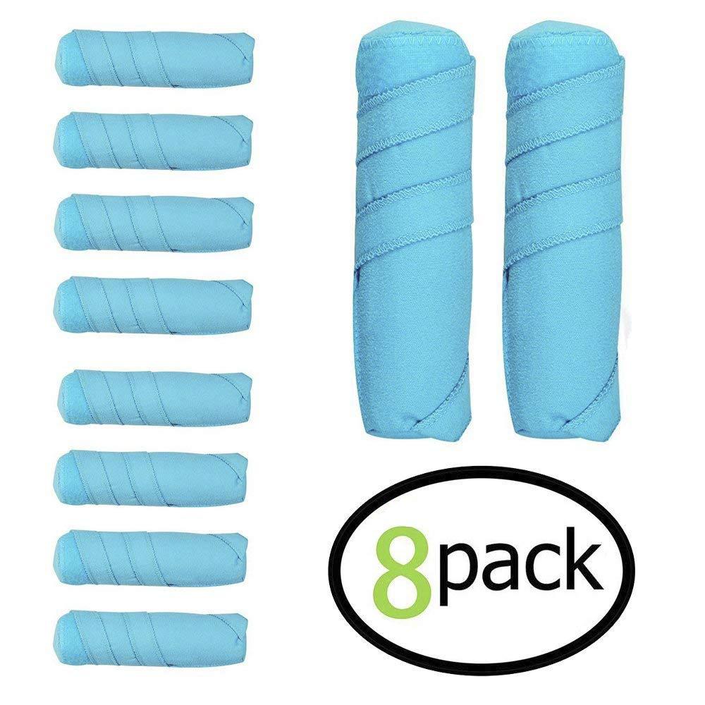 8 Pack Sleep Hair Rollers- Absorbent sleep hair rollers style Curling Apparatus,Curling Drum,Dry Hair Curler,6 Inch Absorbent Heat Free Sleep Nighttime Styler Curlers
