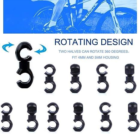con gancho en forma de S color azul Clips giratorios para cables de bicicleta Jurxy