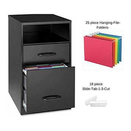 amazon com lorell 2 drawers vertical steel filing cabinet black
