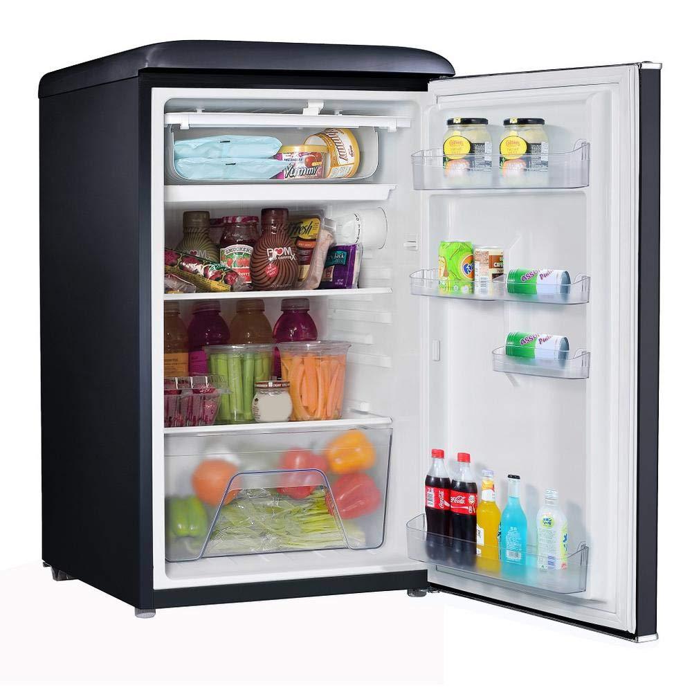 Galanz GLR35BKER Refrigerator, Mini Fridge, Retro, Black 3.5 cubic feet