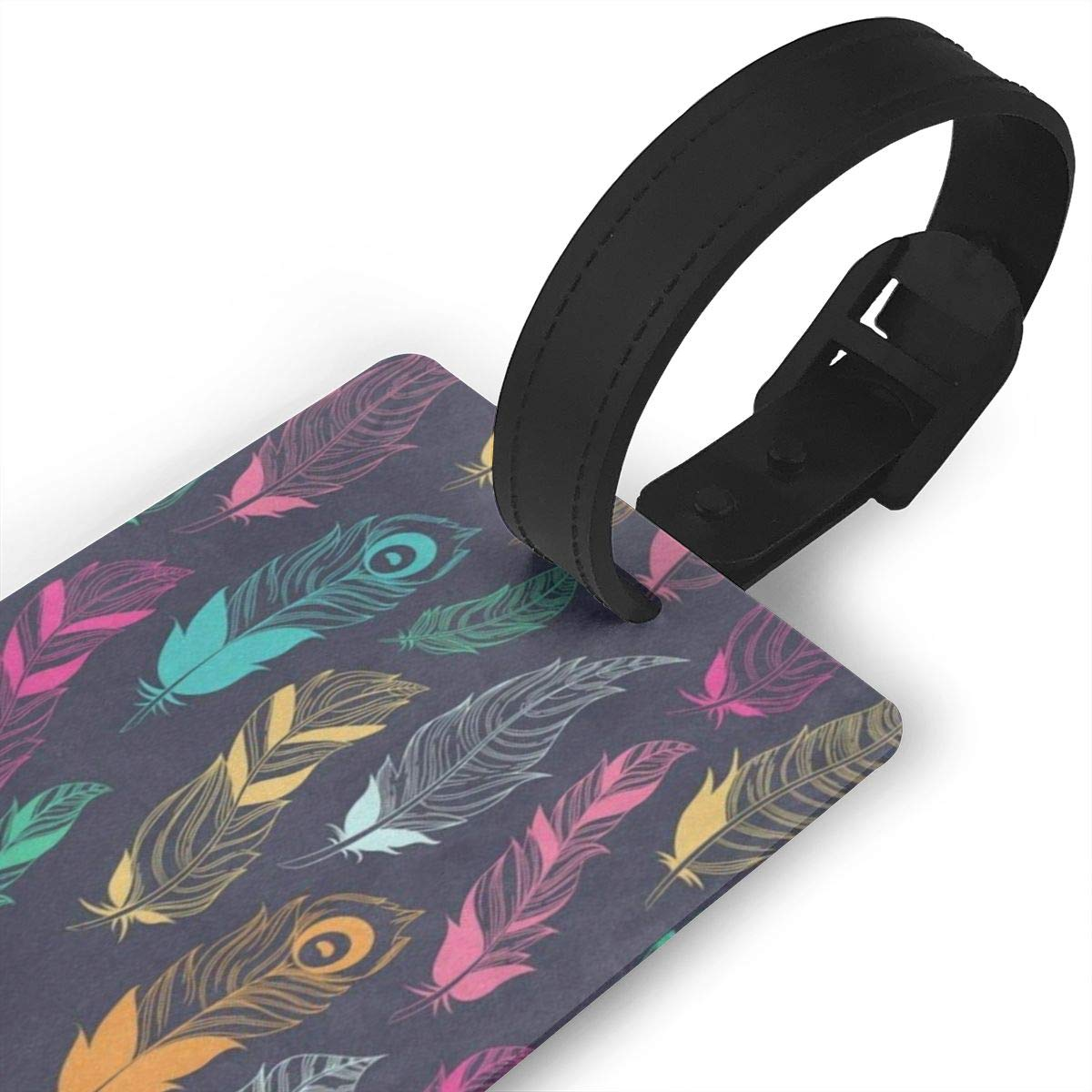 Luggage Tags Colorful Paw Print Bag Tag for Travel 2 PCS