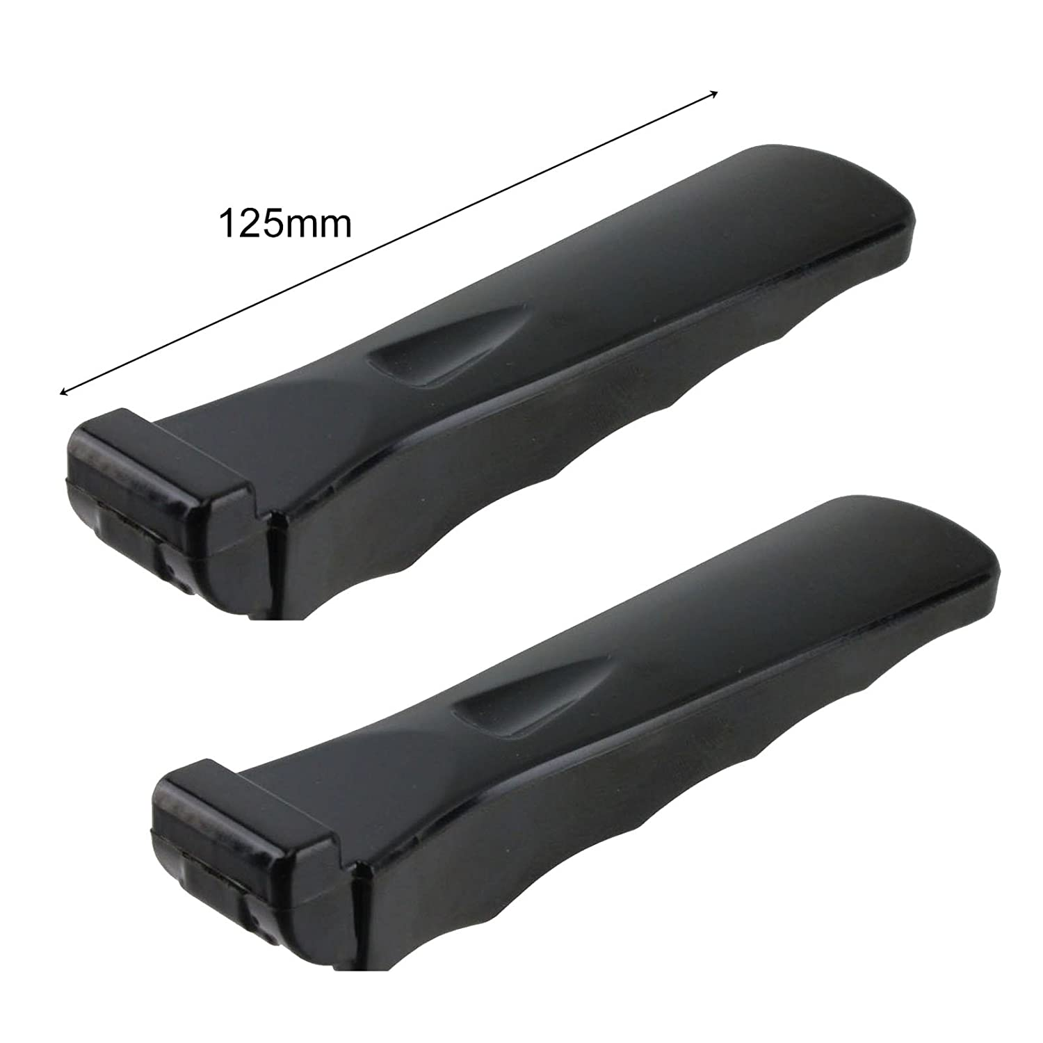 Spares2go Universal Oven Cooker Grill Pan Moulded Grip Detachable Handle (Pack Of 2)