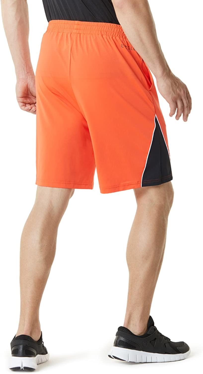 Quick Dry Athletic Shorts with Pockets 7 Inch Basketball Gym Training Workout Shorts TSLA Mens Active Running Shorts