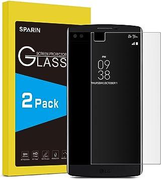 LG V10 Protector de pantalla [2 * PACK] [.3 mm/2.5d HD cristal ...