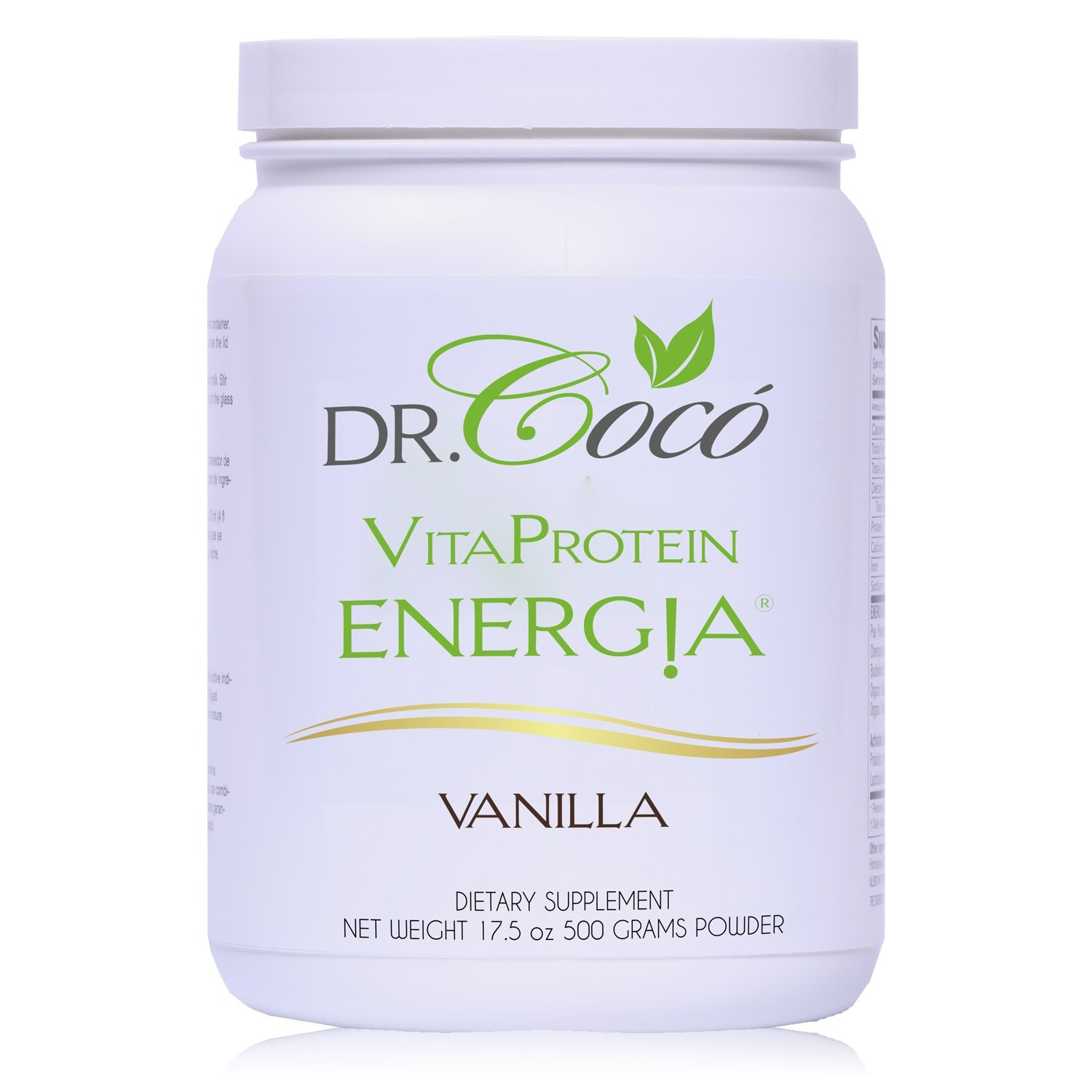 Doctor Formulated 20g Vegan Protein So Delicious You Won't Believe Is Good For You IDEAL FOR GI SENSITIVITIES with Probiotics & Enzymes VANILLA Flavor by Dr. Coco