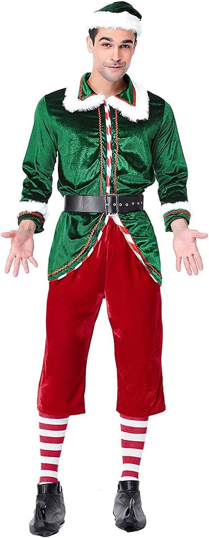Traje de Mujer y Hombre de Halloween Disfraz de Navidad de duendecillo de muneco de Nieve de Papa Noel Elf