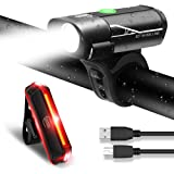 MENERUSKAN Rechargeable LED Bike Light Set USB Charging Cycle Lights Waterproof Bicycle Lighting Front and Rear Kit