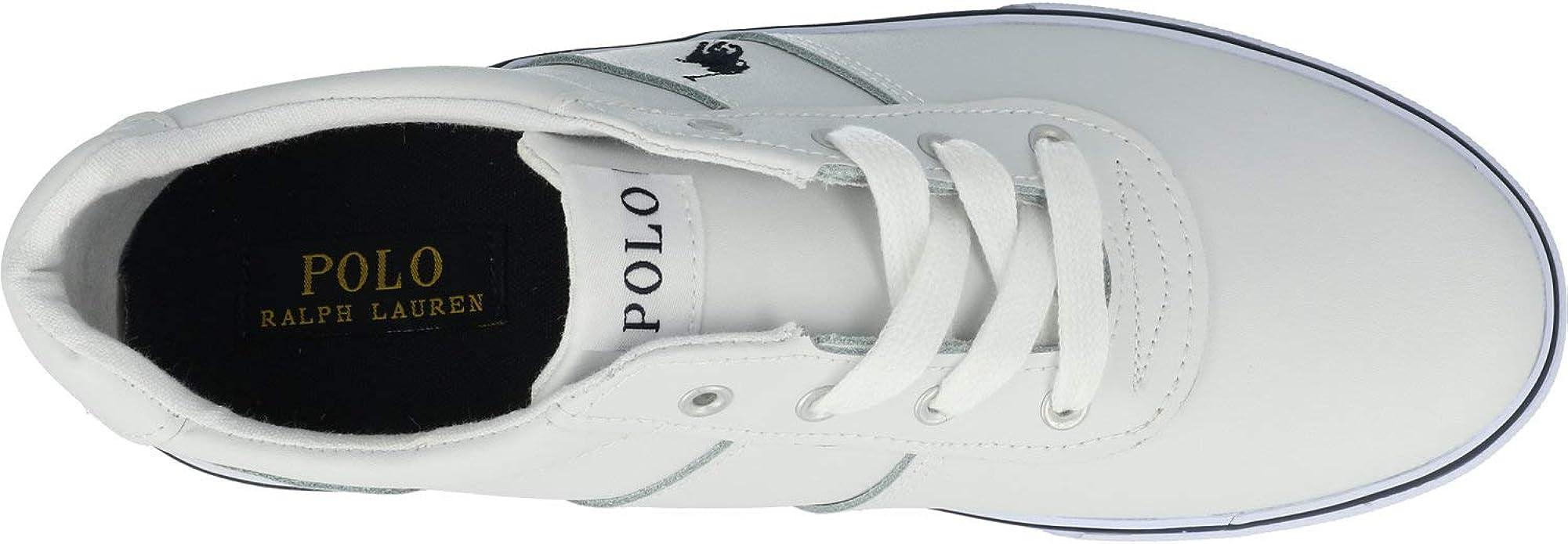 Polo Ralph Lauren Hanford Armada/Blanco Cuero 36 EU: Amazon.es ...