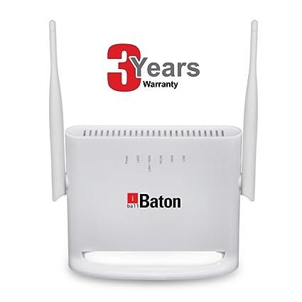 iBall Baton 300N 4G / 3G / 2G / DSL Mimo Wireless N Dual Wan Internet  Router - iB-W4G311N