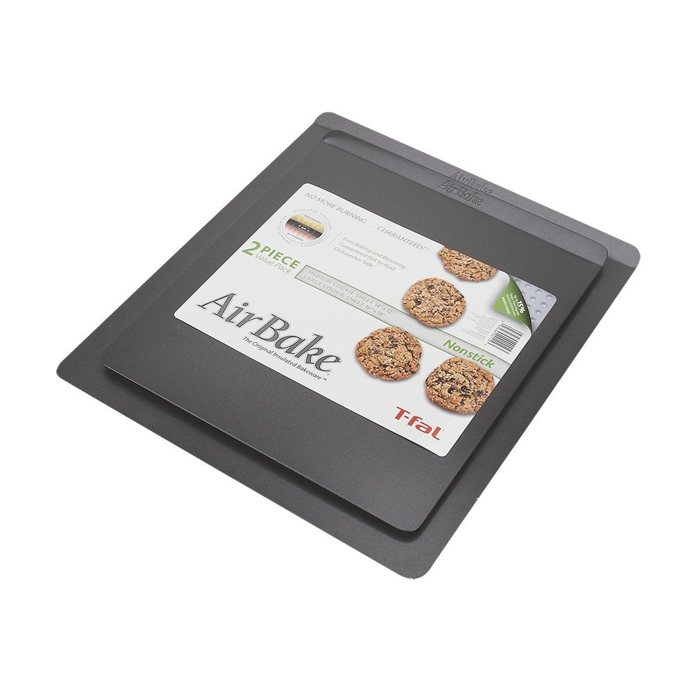 AirBake Nonstick 2 Pack Cookie Sheet Set, 14 x 12in and 16 x 14in Bradshaw International 84820