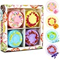 Welltop Bath Bombs 4-Packs Natural Donut Fizzies Spa Kit