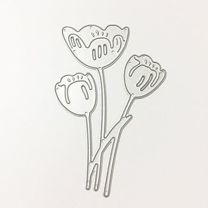 amazon com sarora metal cutting dies stencil template tulip for