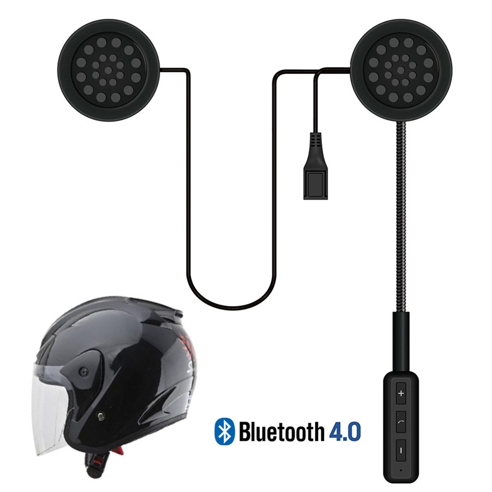LeaningTech Motorcycle Helmet Wireless Headset Bluetooth Intercom Headset, Helmet Headphones, Speakers Hands free, Music Call Control