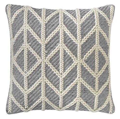 "Company C Radisson 18"" x 18"" Throw Pillow, Grey"