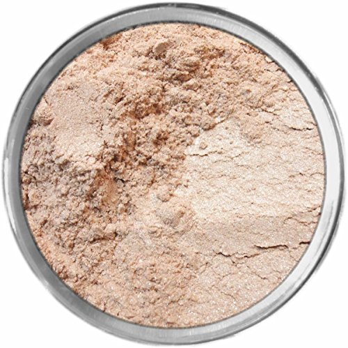 Linen Loose Powder Mineral Shimmer Multi Use Eyes Face Color Makeup Bare Earth Pigment Minerals Make Up Cosmetics By MAD Minerals Cruelty Free - 10 Gram Sized Sifter Jar