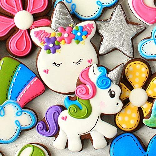 set di stampini per biscotti/ /Ann Clark/ cute Unicorn /Unicorn Unicorn /4/pezzo/ /Metallo placcato in acciaio Unicorn Head /& Face/