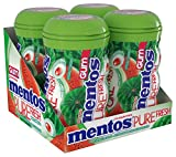 xylitol fruit candy - Mentos Pure Fresh Sugar-Free Chewing Gum with Xylitol, Watermelon, Non Melting, 50 Piece Bottle (Pack of 4)