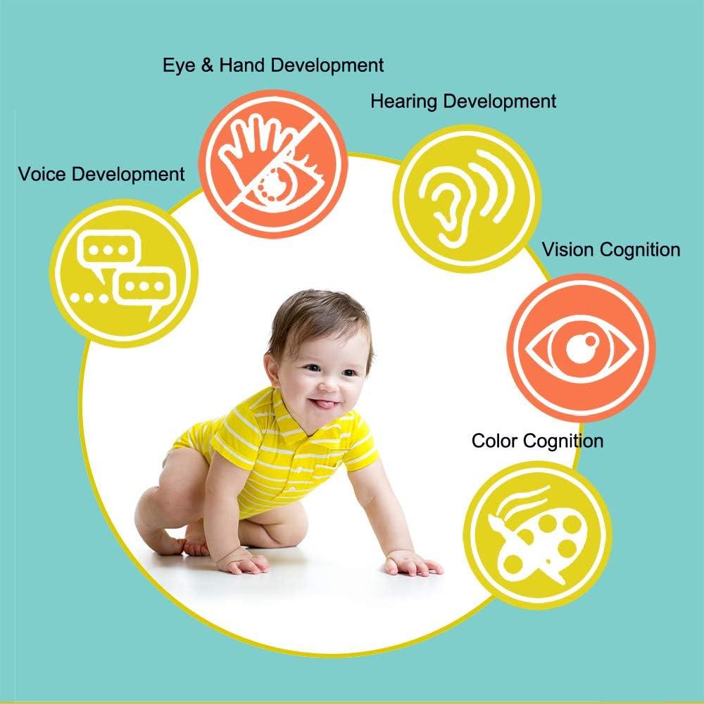 Baby Socks Toys Baby Wrist Rattle and Foot Finder Set Developmental Soft Animal Toys for Newborn Infant Toddler Boy Girl 0-12 Months