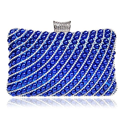 Mini Gold Blue Color evening clutch Banquet Women's KERVINFENDRIYUN Handbags Bag Small Pearl Cute Bag T8qgw7