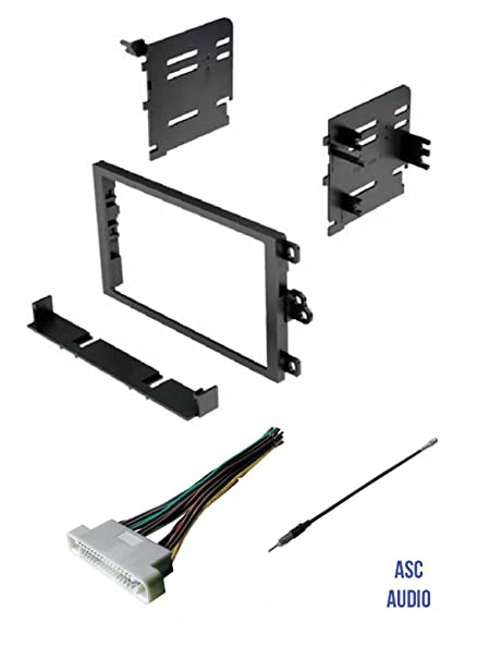 Amazon.com: ASC Car Stereo Dash Kit, Wire Harness, and Antenna ... on aftermarket gas tank, aftermarket chassis harness, aftermarket brakes, aftermarket tail lights, aftermarket stereo harness, aftermarket steering column, aftermarket seat, aftermarket engine harness, aftermarket shifter, aftermarket exhaust, aftermarket wheels,