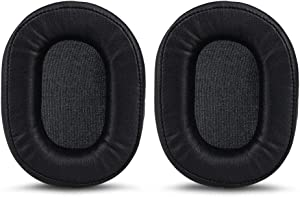 Earpads for Audio-Technica ATH-M30, ATH-M35,ATH-M40x, ATH-M50, ATH-M50s, ATH-M50x ATH-MSR7 ATH-MSR7BK Headphones,Replacement Ear Pad/Ear Cushion/Ear Cups/Ear Cover/Earpads Repair Parts,Black
