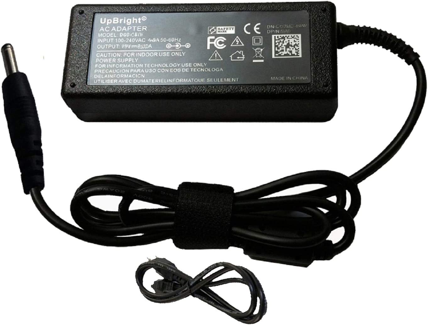 UpBright 65W AC/DC Adapter Compatible with Acer Aspire R 15 R15 R5-571T-59DC R5-571TG-78G6 NX.GCCAA.002 NX.GCFAA.001 R5-571T-57Z0 Touch-Screen Laptop Power Supply Cord Cable PS Battery Charger PSU