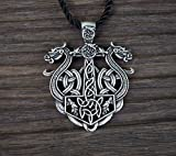 HAQUIL Dragon Necklace Viking Metal Double Dragon Pendant Necklace for Men and Women