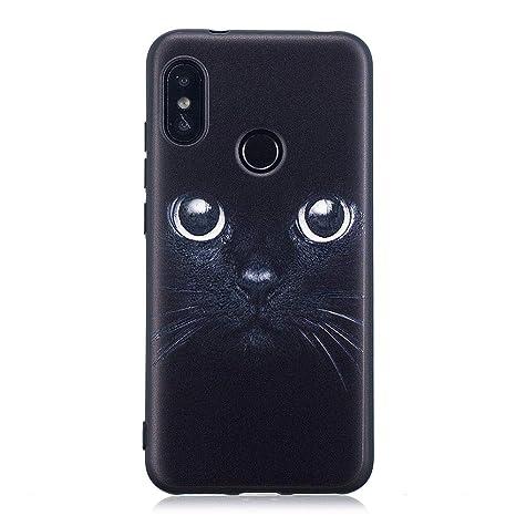 Fjiujin,Caja de Alivio de TPU con patrón de Gato Negro para Xiaomi Mi A2 Lite(Color:Multi): Amazon.es: Hogar