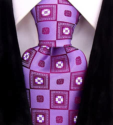 Purple Floral Necktie Mens Floral Tie by Scott Allan Collection